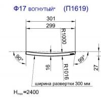 Панель радиусная (гнутая) Ф17-16, толщина 16мм