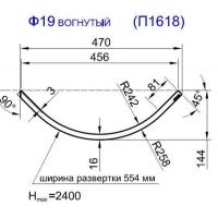 Панель радиусная (гнутая) Ф19-16, толщина 16мм