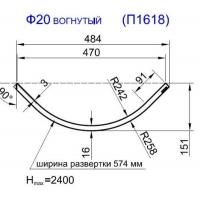 Панель радиусная (гнутая) Ф20-18, толщина 18мм