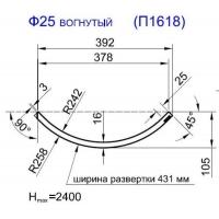 Панель радиусная (гнутая) Ф25-16, толщина 16мм