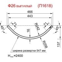 Панель радиусная (гнутая) Ф26-16, толщина 16мм