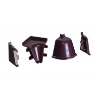Комплект угловых элементов для овального бортика, цвет фиолетовый