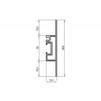 Профиль горизонтальный/вертикальный L=4180, отделка алюминий анодированный