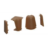 Комплект угловых элементов для овального бортика 50/53, цвет коричневый