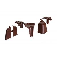 Комплект угловых элементов для овального бортика М3000/М3010, цвет 04 коричневый