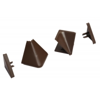 Комплект угловых элементов для треугольных бортиков АА.101 и АА.102, цвет коричневый