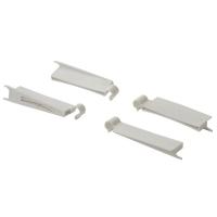 Комплект крепежа Firmax для стеклянных надставок для ящика Firmax Newline высота 199мм (4 элемента), белый
