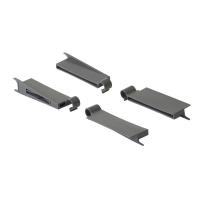 Комплект крепежа Firmax для стеклянных надставок для ящика Firmax Newline высота 199мм (4 элемента), серый