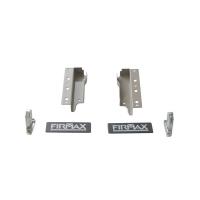 Комплект креплений Firmax высота 135 мм (Держатели фасада, держатели задней стенки, заглушки) для ящика Newline, серый