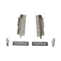 Комплект креплений Firmax высота 199 мм (Держатели фасада, держатели задней стенки, заглушки) для ящика Newline, серый