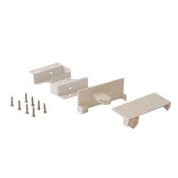 Комплект креплений Firmax высота 84 мм (Соединители передней панели, держатели задней стенки, заглушки, винты) для внутреннего ящика Newline, белый (алюминий + пластик)