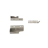 Комплект креплений Firmax высота 84 мм (Соединители передней панели, держатели задней стенки, заглушки, винты) для внутреннего ящика Newline, серый (алюминий + пластик)