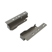 Комплект креплений Firmax высота 135 мм под 1 рейлинг (Соединители передней панели, держатели задней стенки, заглушки, винты) для внутреннего ящика Newline, серый