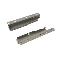 Комплект креплений Firmax высота 199 мм под 1 рейлинг (Соединители передней панели, держатели задней стенки, заглушки, винты) для внутреннего ящика Newline, серый