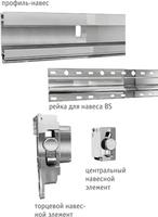 Скрытый профиль-навес для кухонных коробов нижнего яруса LIBRA BS, ширина фасада 900мм