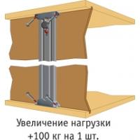 Вертикальный профиль-навеска с верхним креплением, 407 мм