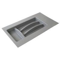 Лоток д/столовых приборов Firmax Alpha, база 300-350мм, серый