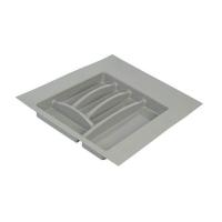 Лоток д/столовых приборов Firmax Alpha, база 400-450мм, серый