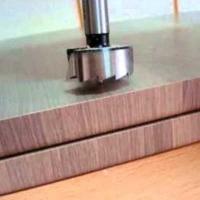 Обнижение под петлю четырехшарнирную, потайную, петли для откидных элементов