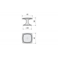 P16/OVM Ручка-кнопка, отделка бронза античная