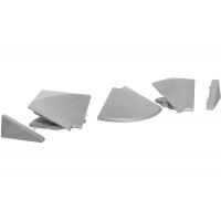 Комплект угловых элементов для треугольного бортика 3504, цвет под алюминий