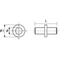 Полкодержатель Duplo для стеклянных полок, d=5 мм, сталь, цинк.FIRMAX