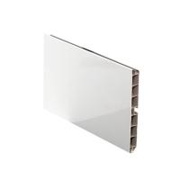 Цоколь кухонный ALPHALUX, H=100мм, L=4м, белый глянцевый, пластик