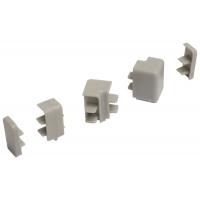 Комплект угловых элементов и заглушек для прямоугольного бортика АА.201, цвет серый