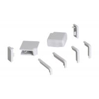 Комплект угловых элементов для прямоугольного бортика 55/62, цвет серый