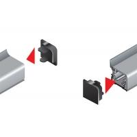 Комплект торцевых заглушек для прямоугольного бортика R3600, цвет 07 серый