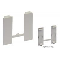 Комплект торцевых заглушек для прямоугольного бортика R3610, цвет 07 серый