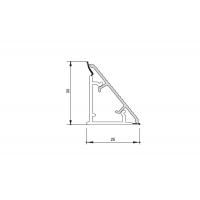 Бортик треугольный Алюминий анодированный, под кромку Н.34 к столешнице 8STEPEN L=4000
