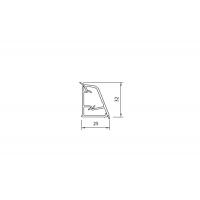 111. Бортик овальный Кварц ледяной к столешнице 8STEPEN L=4000