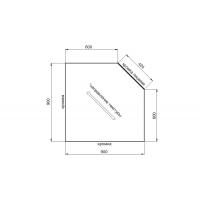 Столешница для угловых решений Белый песчаник глянец 900х900х38,8 Россия