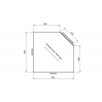 Столешница для угловых решений Мрамор бельканто глянец 900х900х38,8 Россия