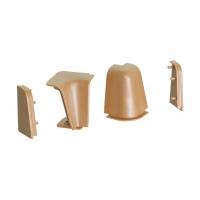 Комплект угловых элементов для овального бортика 50/53, цвет светло-коричневый