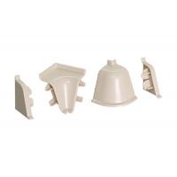 Комплект угловых элементов для овального бортика, цвет топленое молоко