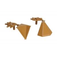"""Комплект углов 90"""" для треугольного бортика M3530/M3540/M3545, цвет 03 светло-коричневый"""