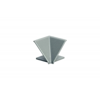"Угол 90"" внутренний для треугольного бортика M3460, цвет под алюминий"