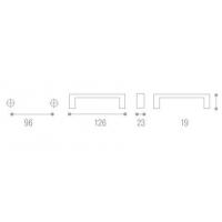 WMN.188.096.01D1 Ручка-скоба L=96 мм бронза/белая вставка с креп. компл.