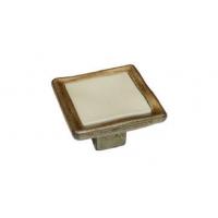 WPO.188.000.01D1 Ручка-кнопка бронза/белая вставка с креп. компл.