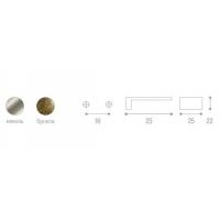WPO.550.016.KRE2 Ручка метал.L=16мм черный никель с прозрачной вставкой