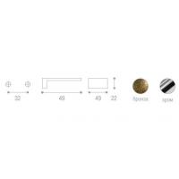 WPO.550.032.EM02 Ручка метал.L=32мм, хром с зеленой вставкой