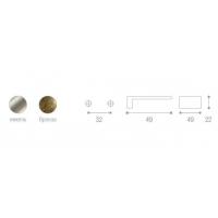 WPO.550.032.KR03 Ручка метал.L=32мм полированный никель с прозрачной вставкой