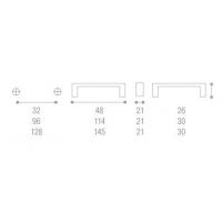WPO.633.C32.KR02 Ручка мет.L=32мм, с прозр.вставками/хром