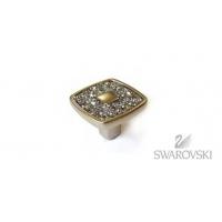 WPO.716.030.KRP9 Ручка-кнопка, никель/кристаллы Сваровски, New