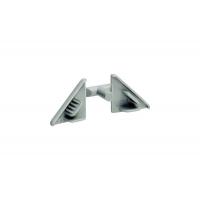 Комплект заглушек для треугольного бортика M3460, цвет под алюминий