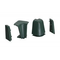 Комплект угловых элементов для овального бортика 50/53, цвет зеленый
