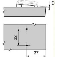 Клинообразная подкладка +5° подъем 0,8 мм, штабелируемая171A5010
