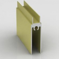 Дуб, нижний горизонтальный профиль Стандарт. Алюминиевая система дверей-купе ABSOLUT DOORS SYSTEM